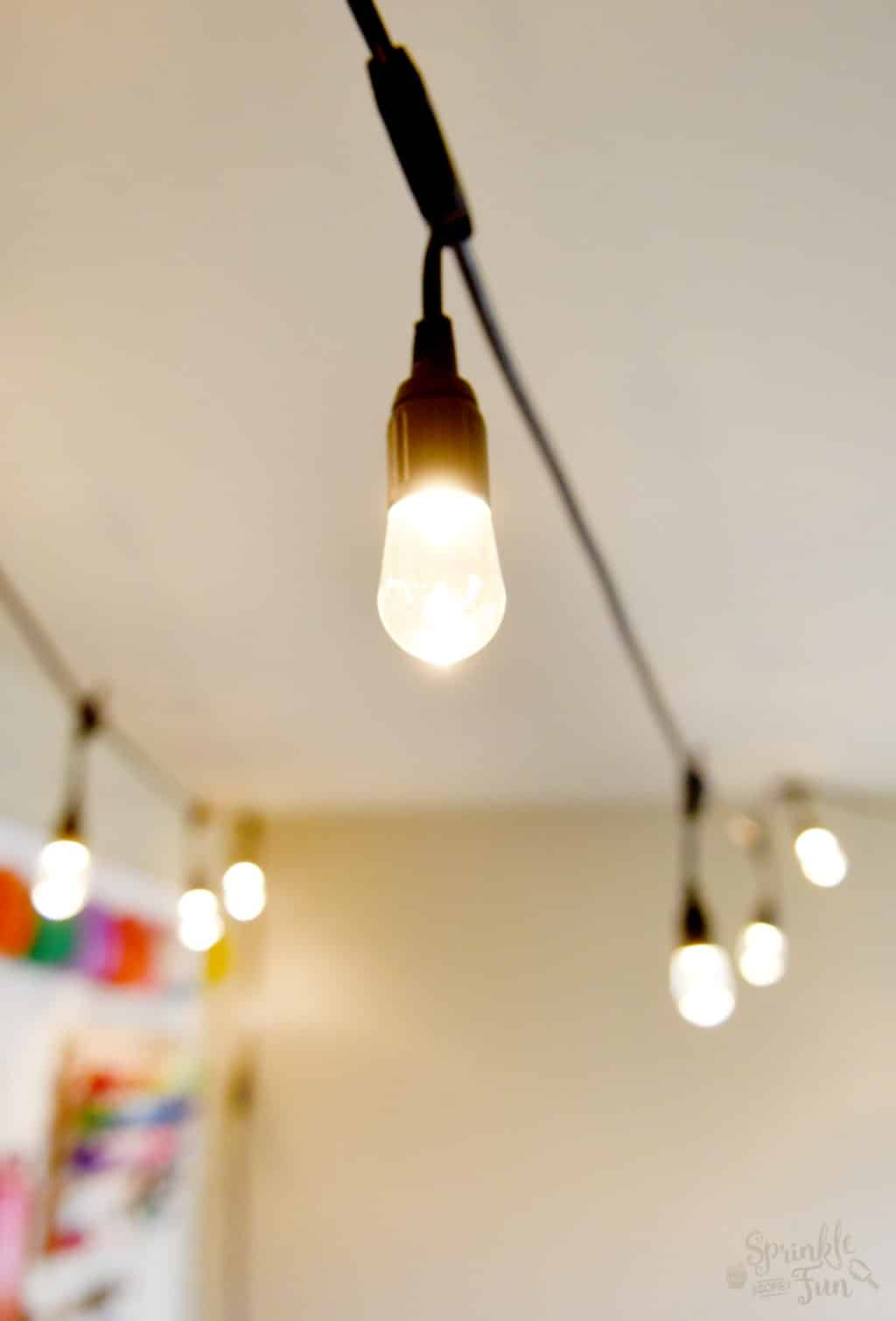 Cafe Lights for Craft Room and Free Printable Quotes