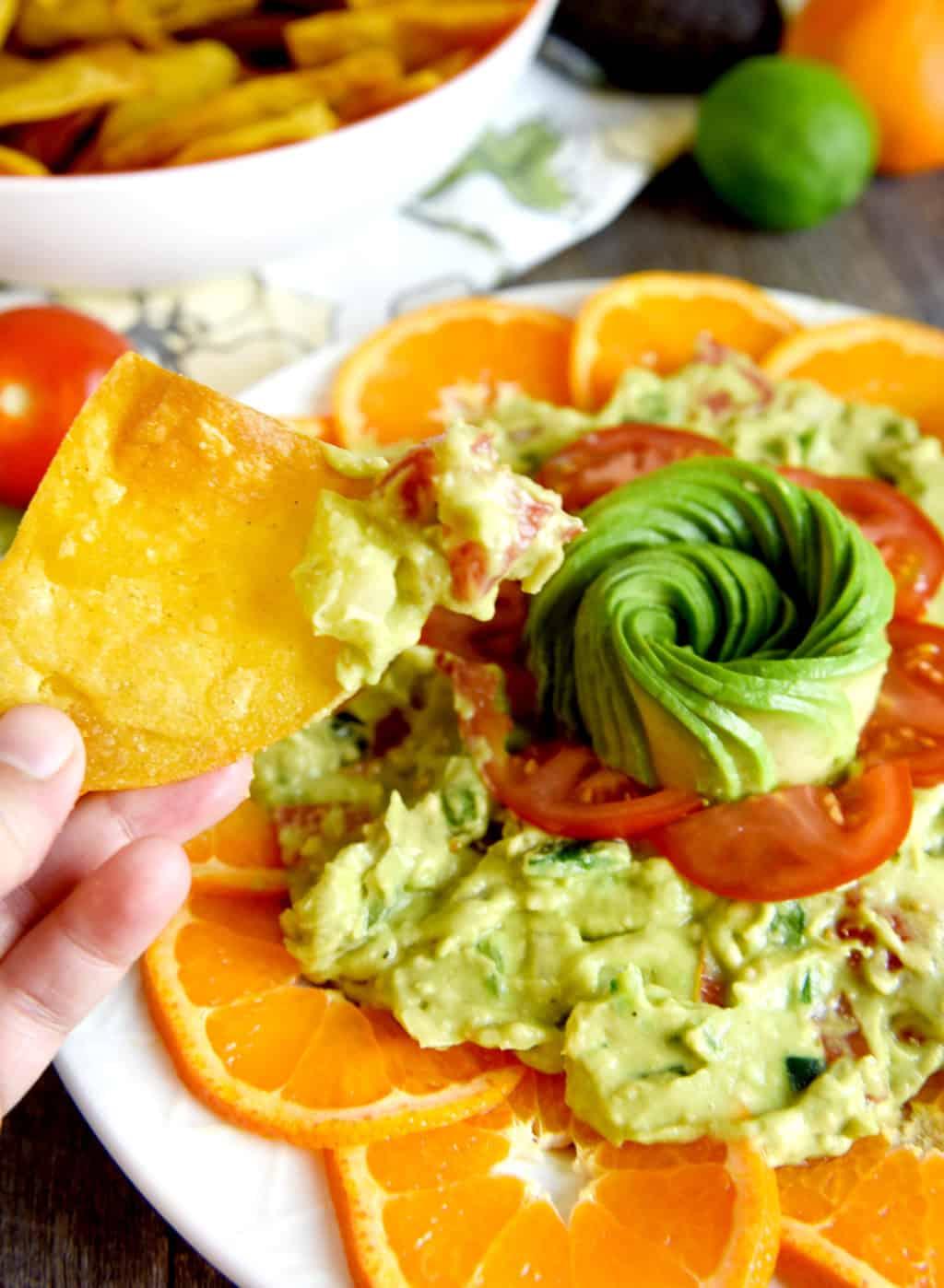 Citrus Guacamole Platter!!!