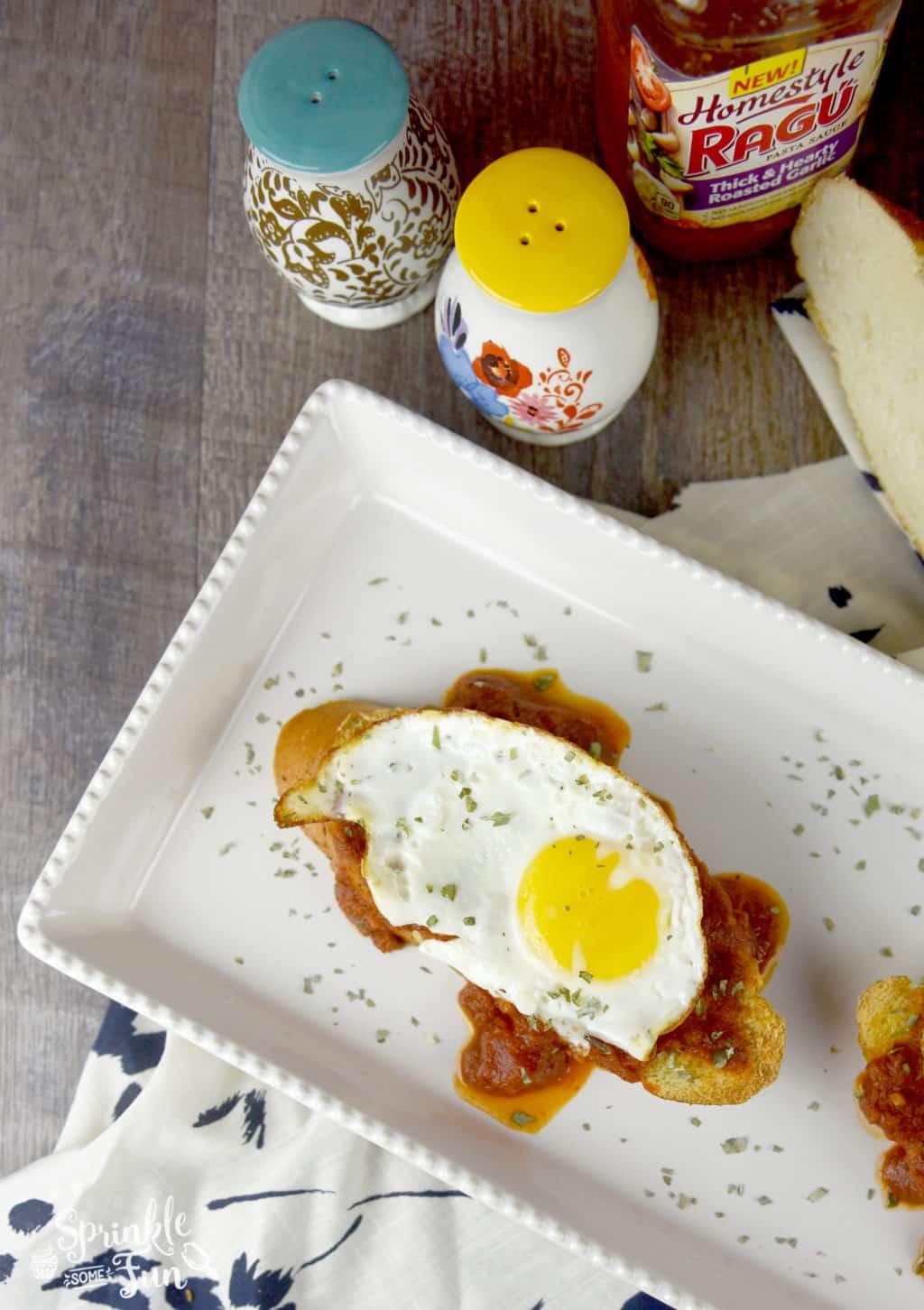 Italian Breakfast Toast. Change breakfast up with an Italian twist on toast and eggs!