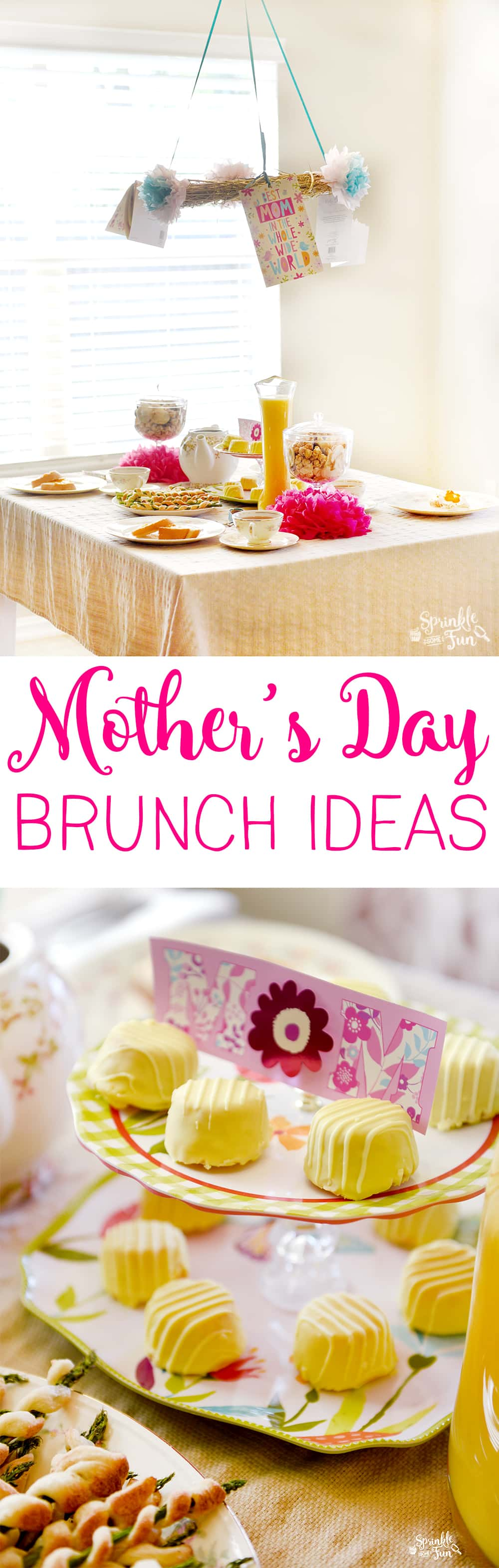 A Mother's day brunch is the perfect get-together to celebrate the moms in your life!  This brunch is easy and frugal.
