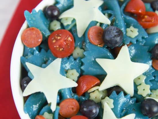 Patriotic Pasta Salad
