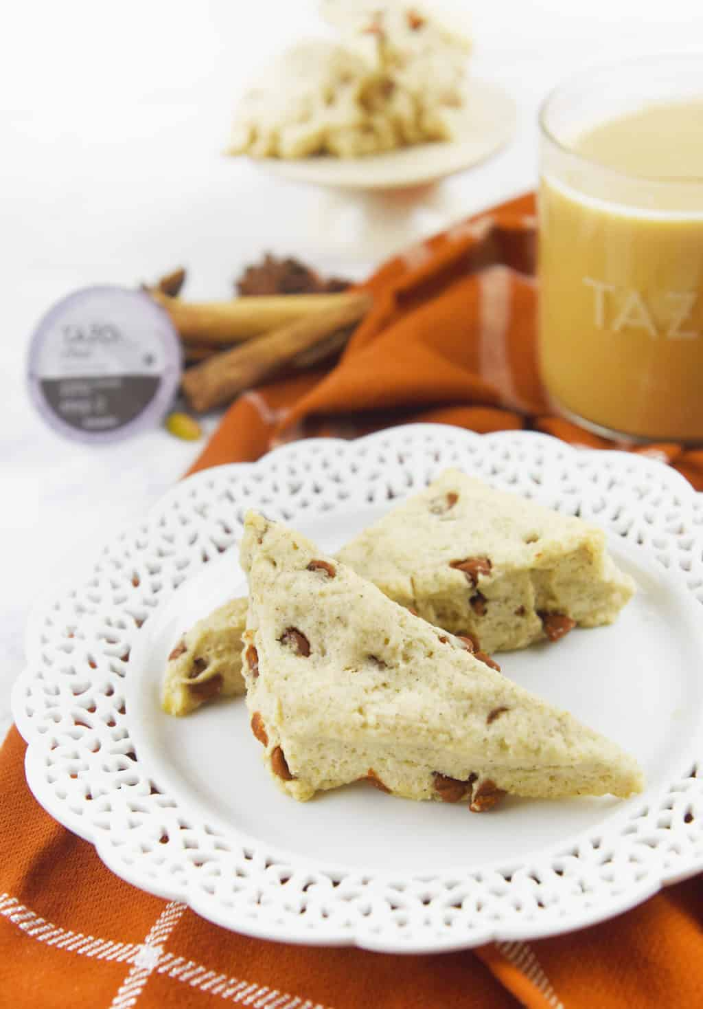 Sweet Cinnamon Scones w Tazo Chai Tea - Sprinkle Some Fun