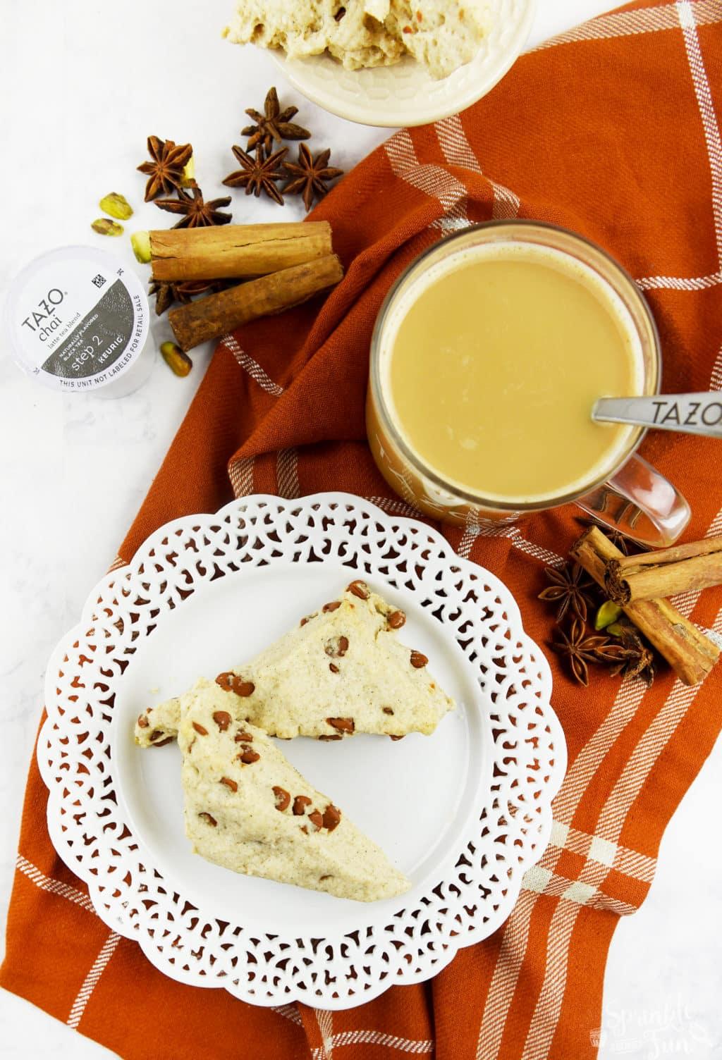 Sweet Cinnamon Scones w TAZO® Chai Tea!