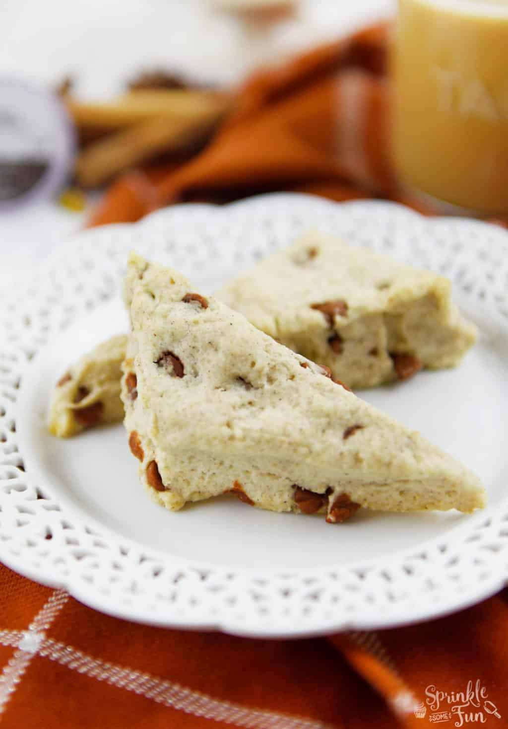 Sweet Cinnamon Scones with Tazo Chai Tea