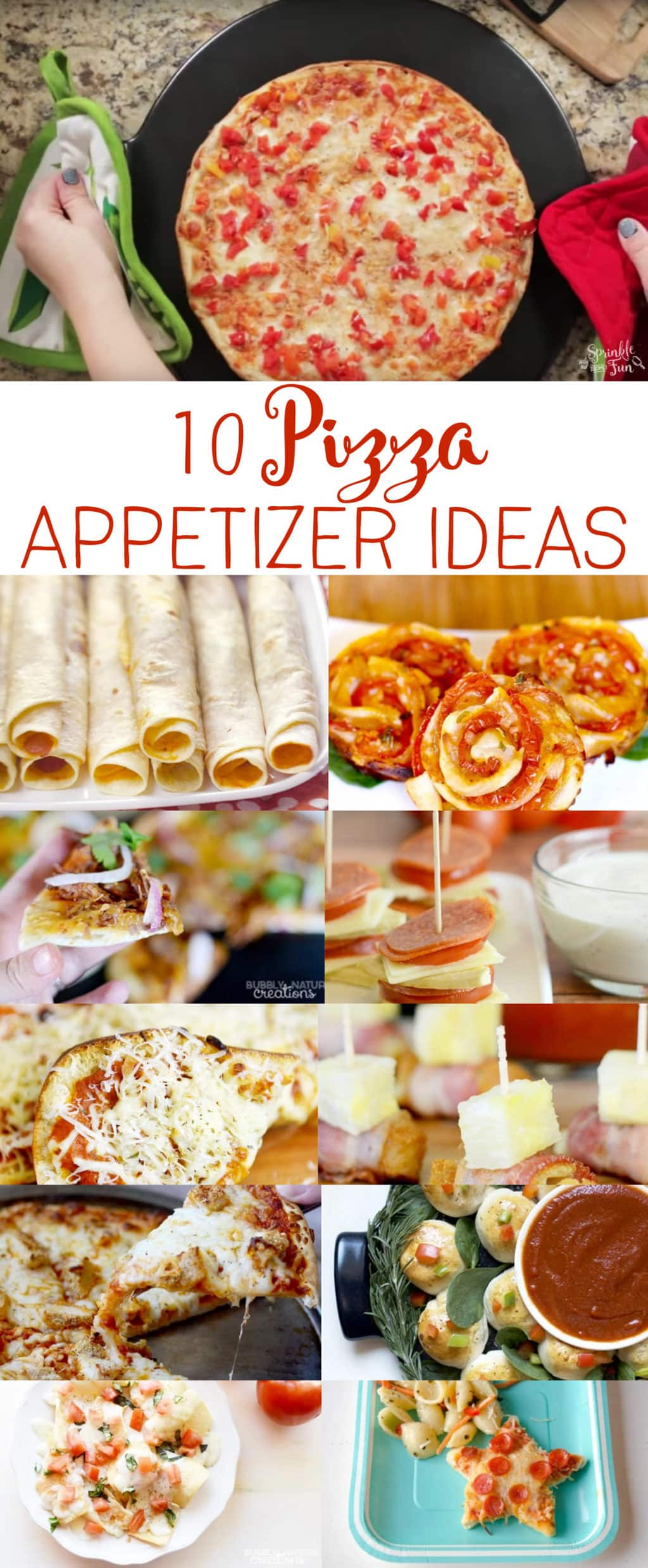 10 Pizza Appetizer Recipes! Easy entertaining ideas using pizza ingredients!