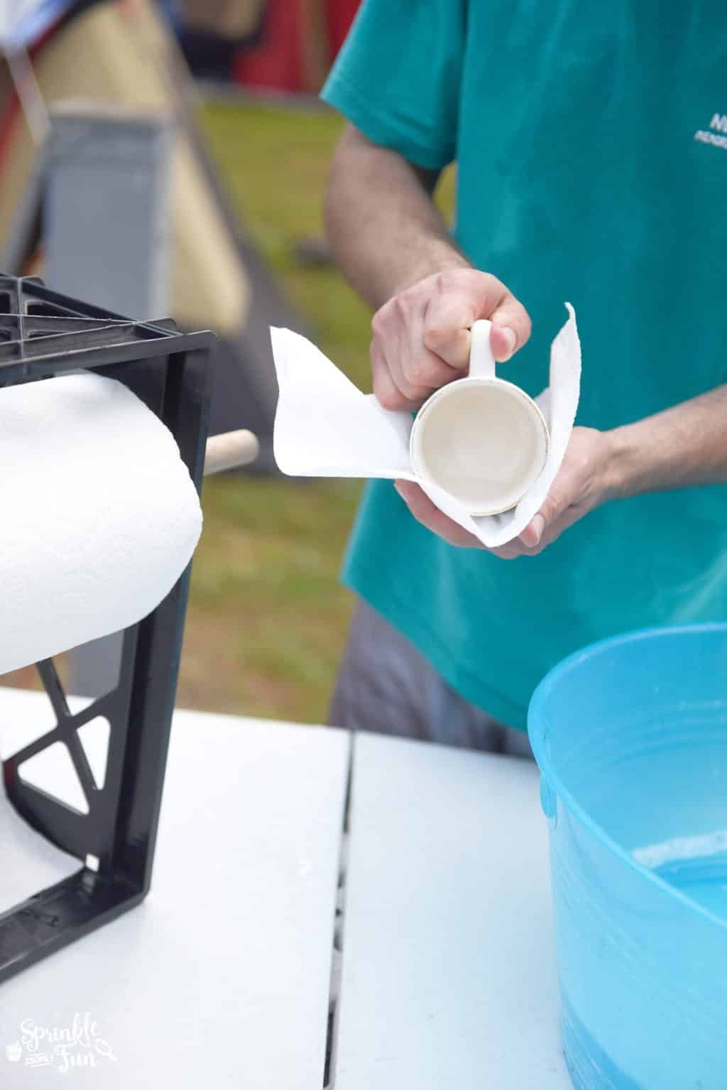 Dish washing station for camping!