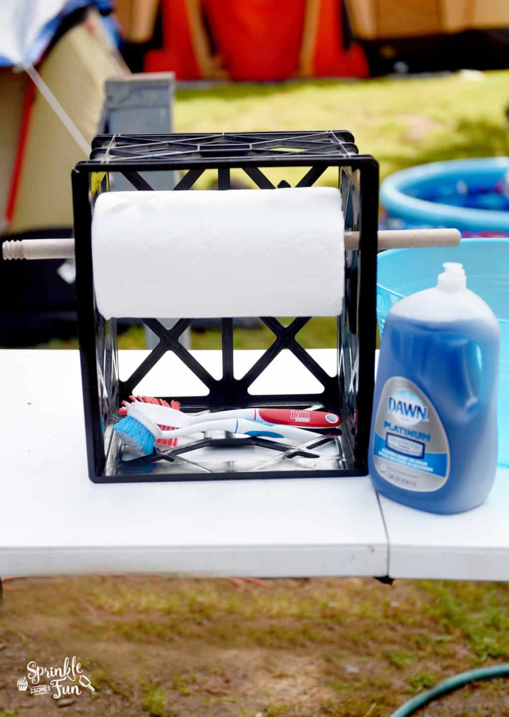 Dishwashing Station for Camping ⋆ Sprinkle Some Fun