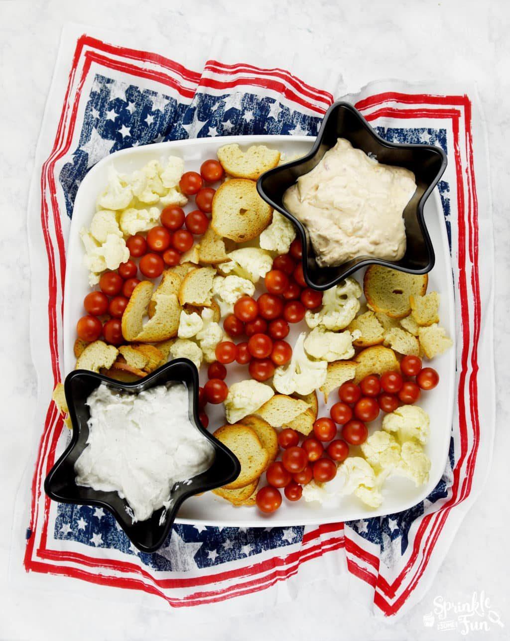 Patriotic Veggie Platter.!