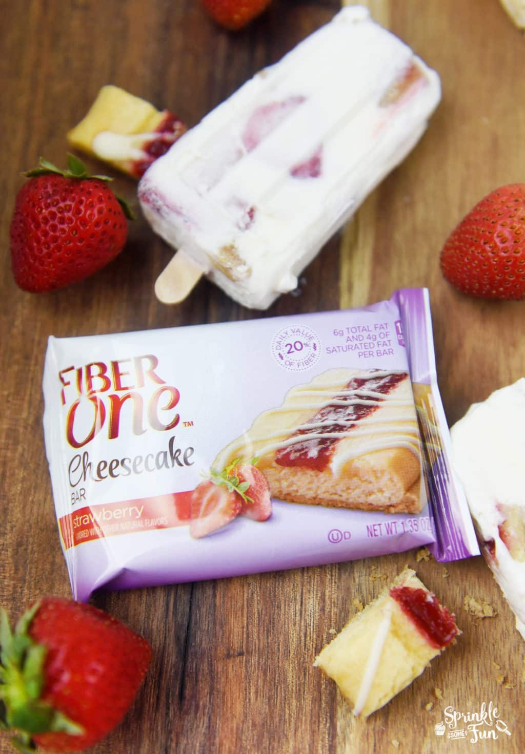 Strawberry Cheesecake Pops! Easy recipe made with cheesecake bars