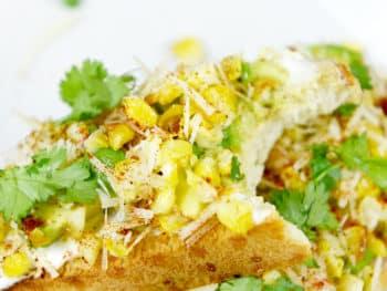 Mexican Street Corn Avocado Toast