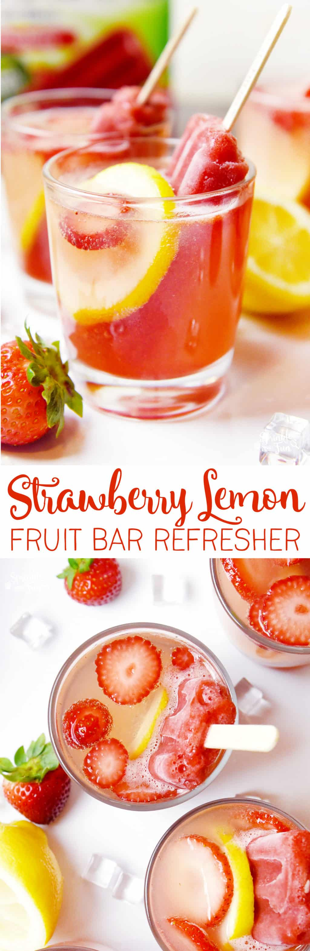 Fruit Bar Ideas strawberry lemon fruit bar refresher - sprinkle some fun