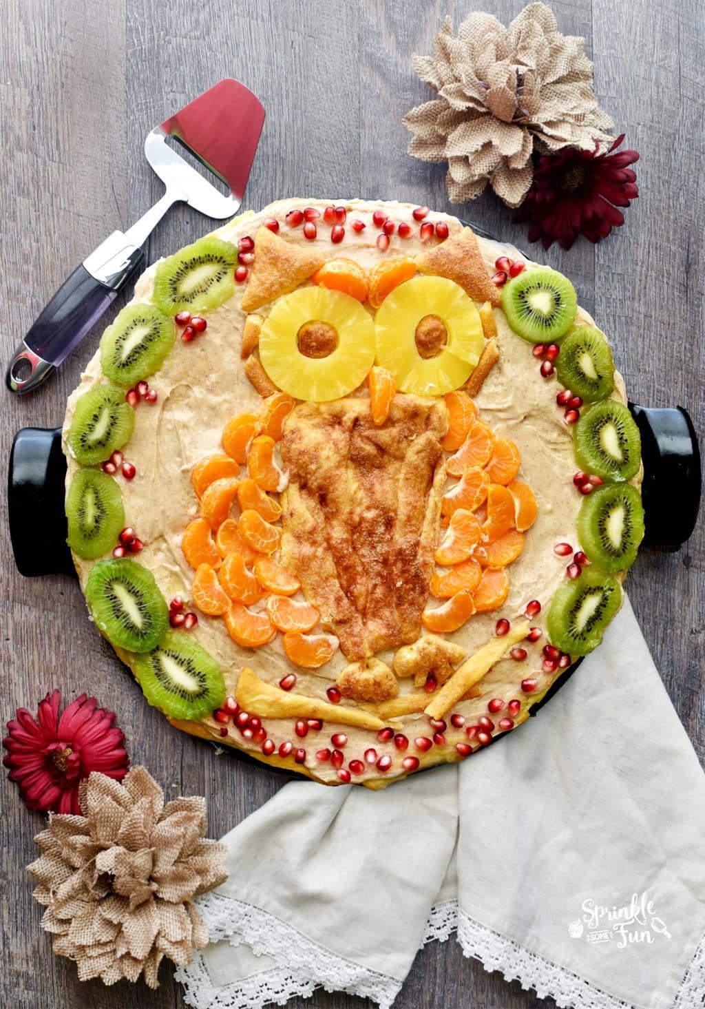 Owl Fruit Pizza Sprinkle Some Fun