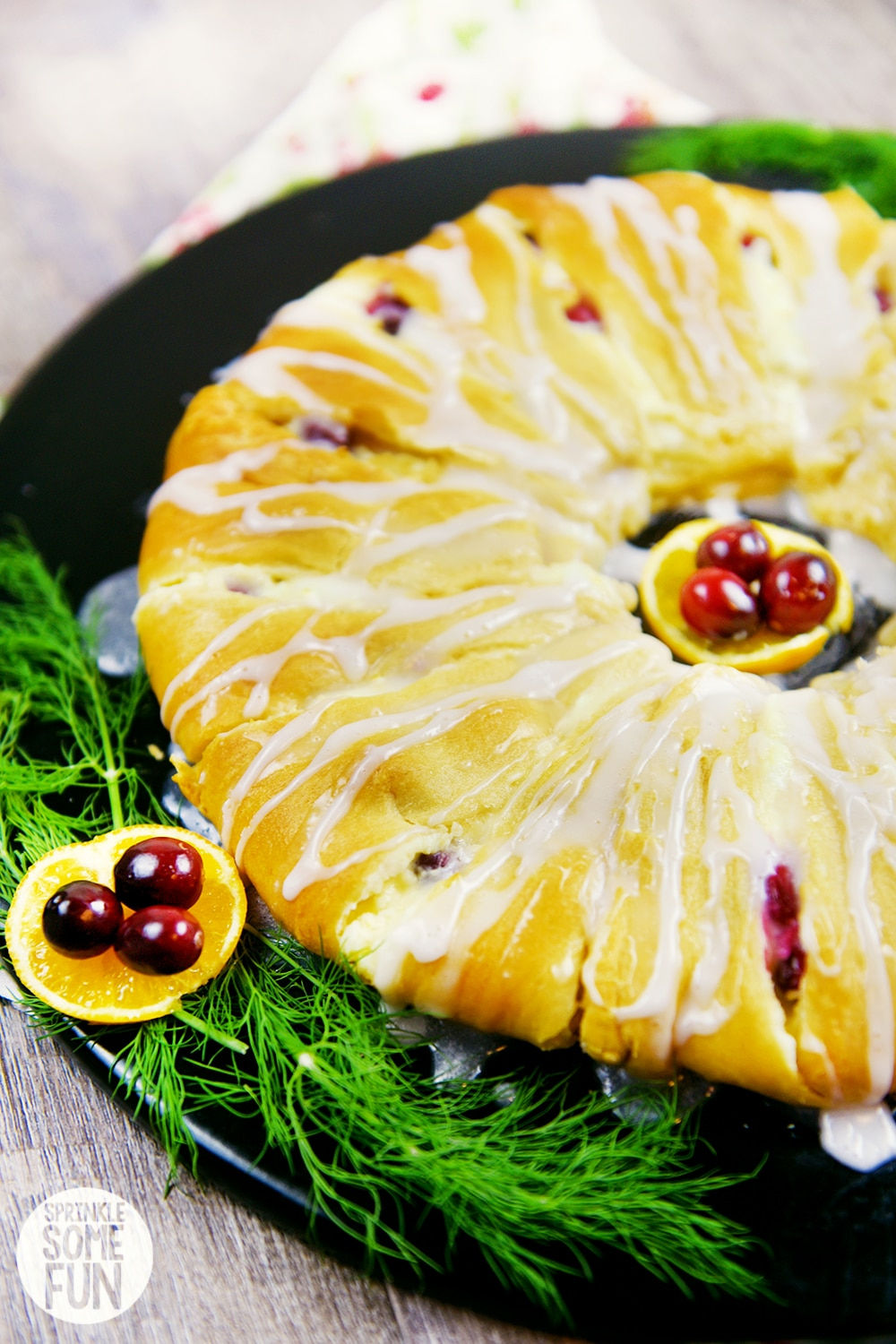 Cranberry Orange Crescent Ring