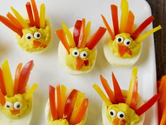 Deviled Egg Turkeys