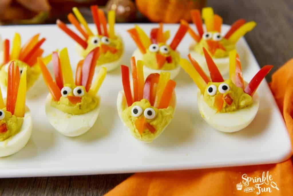 Deviled Egg Turkeys Sprinkle Some Fun