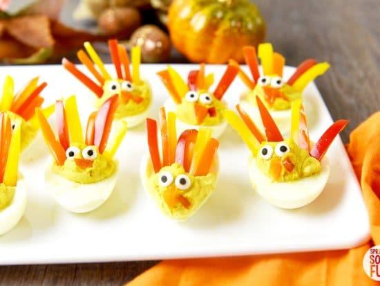 Deviled Egg Turkeys ⋆ Easy Turkey Shaped Deviled Eggs