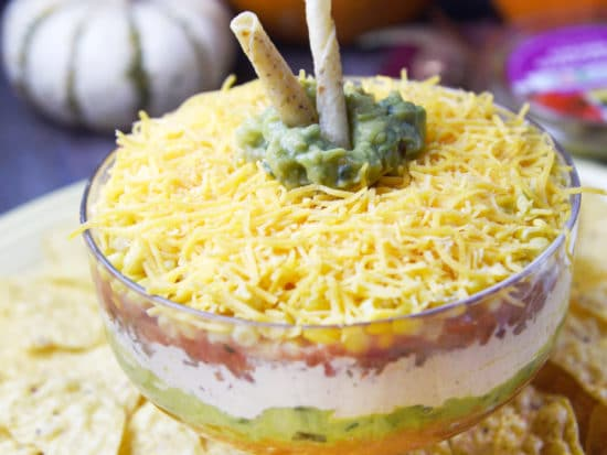 Fiesta Pumpkin Layer Dip