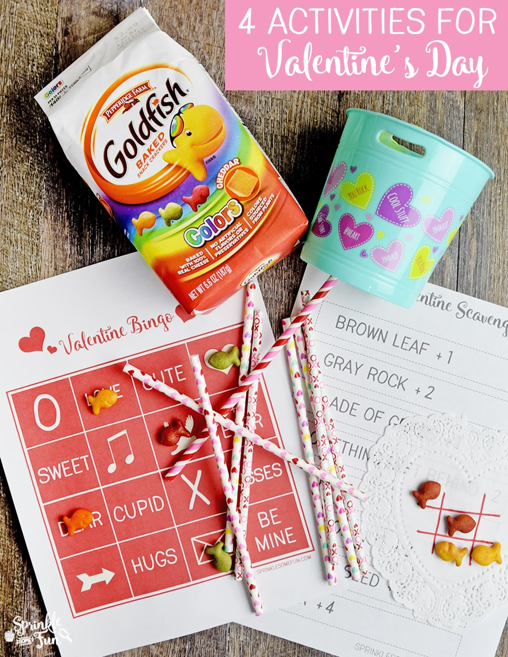 image about Goldfish Valentine Printable referred to as 4 Enjoyable Valentine Online games Printables ⋆ Sprinkle Some Enjoyable