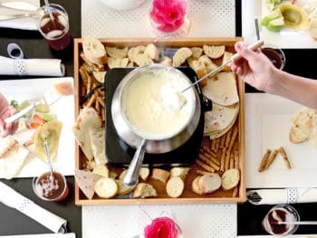 Cheese & Chocolate Fondue Party