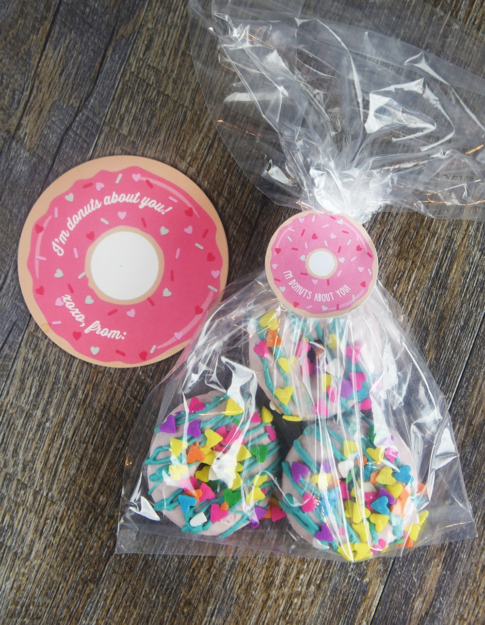 7 Super Cute Valentines. I'm donuts about you!