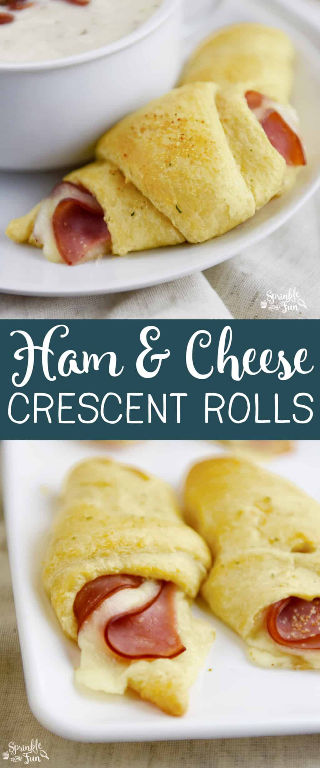 Ham and Cheese Crescent Rolls are like the older, slightly sophisticated cousin of a pig in a blanket! :)