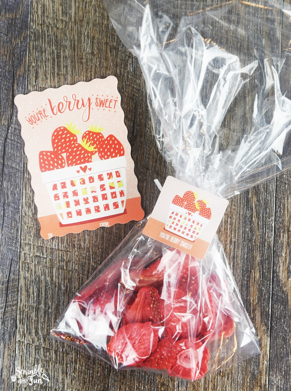 7 Super Cute Valentines!  You are berry sweet, Valentine!