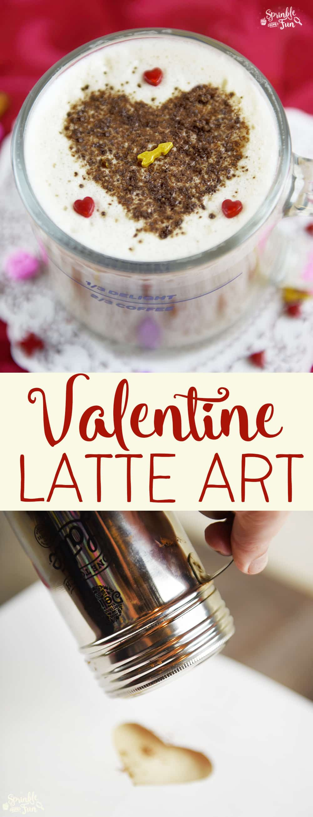 This Valentine Latte Art & Easy 3 Step Latte is perfect for any coffee lover on Valentine's Day!