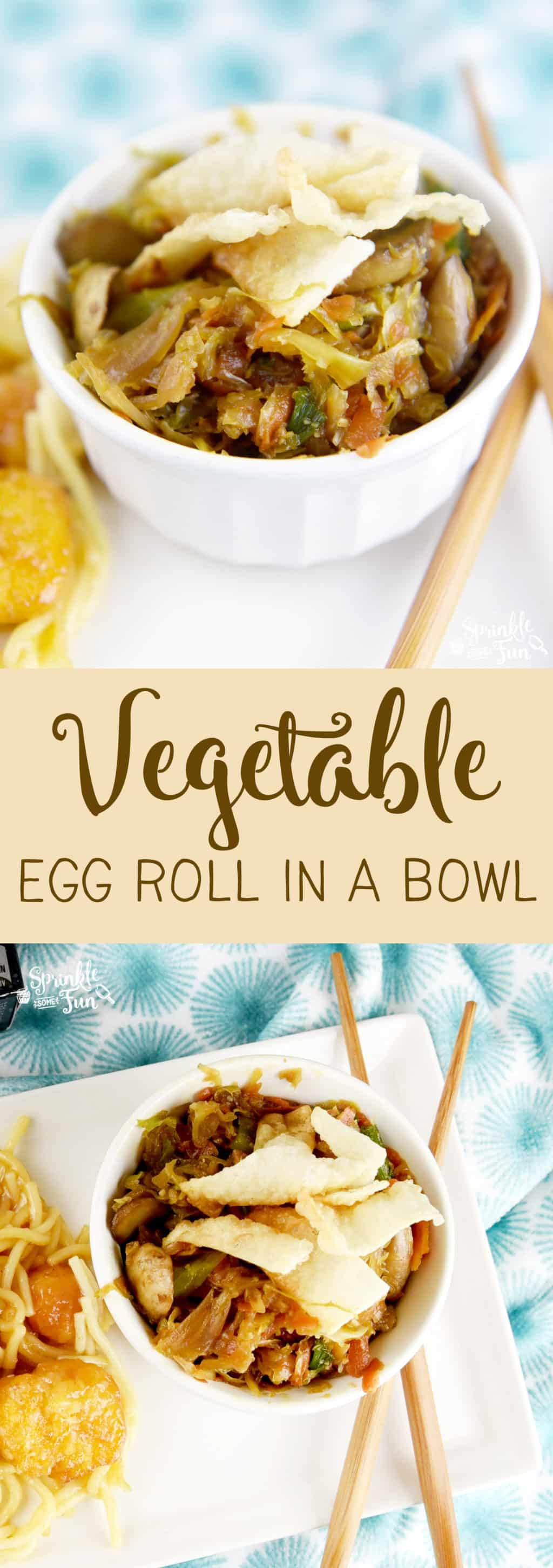 This Vegetable Egg Roll in a bowl is quick to make and tastes great!  A simple side that tastes just like an eggroll!