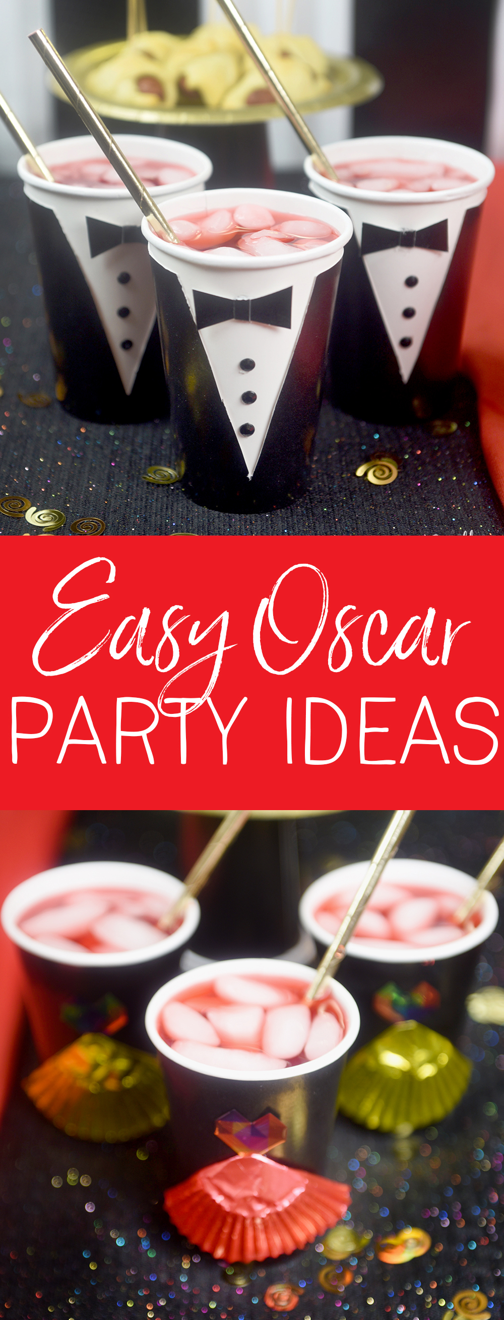 These 5 Easy Oscar Party Ideas are all you need to throw the perfect Oscar Party!
