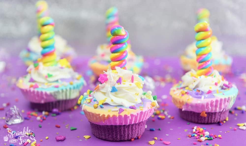 Unicorn Ice Cream Cupcakes!