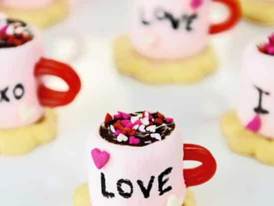 Valentine Marshmallow Cocoa Cups