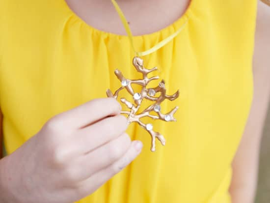 diy Beauty and the Beast Rose Tree Necklace