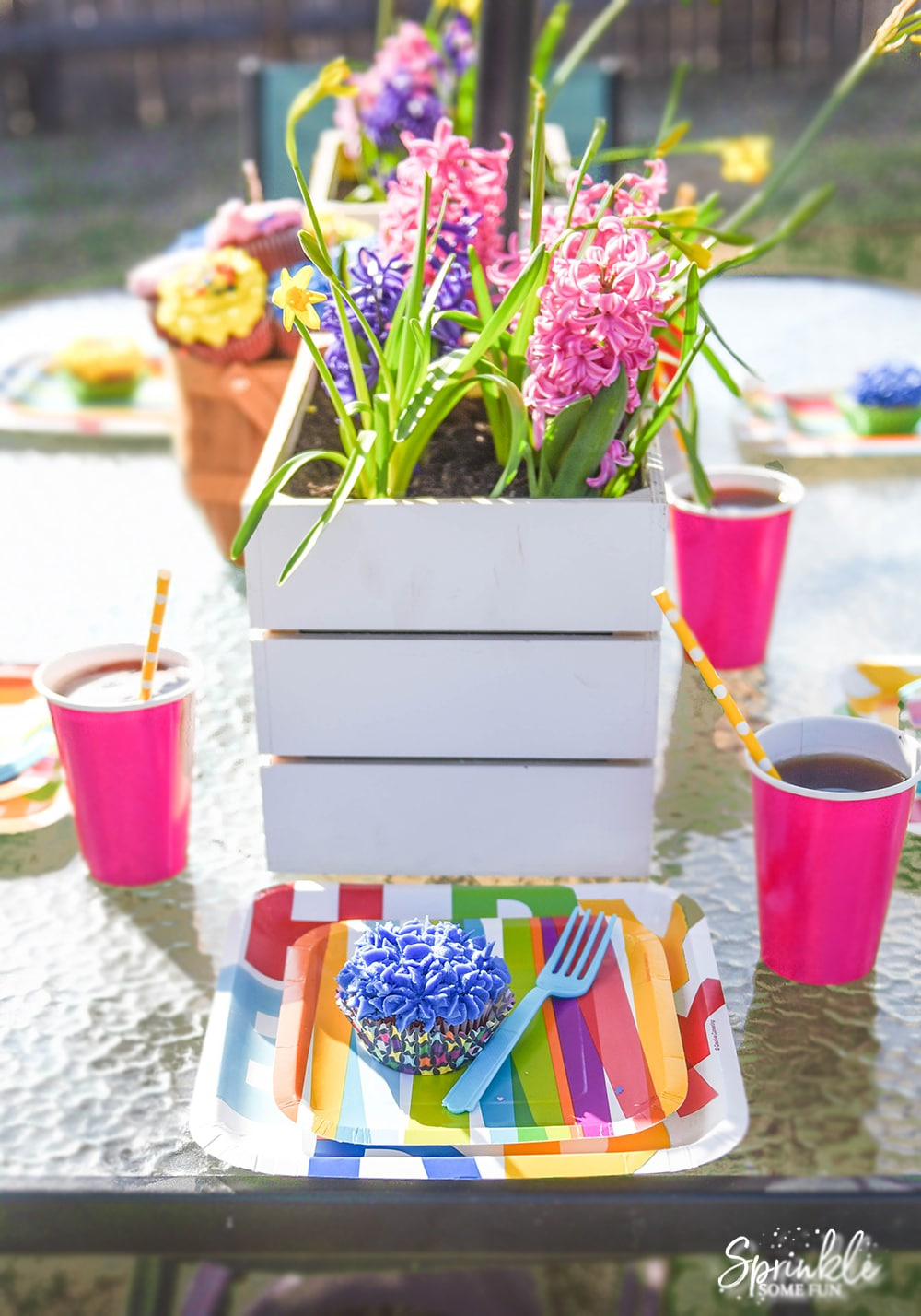 Bright Floral Spring Birthday Party Sprinkle Some Fun