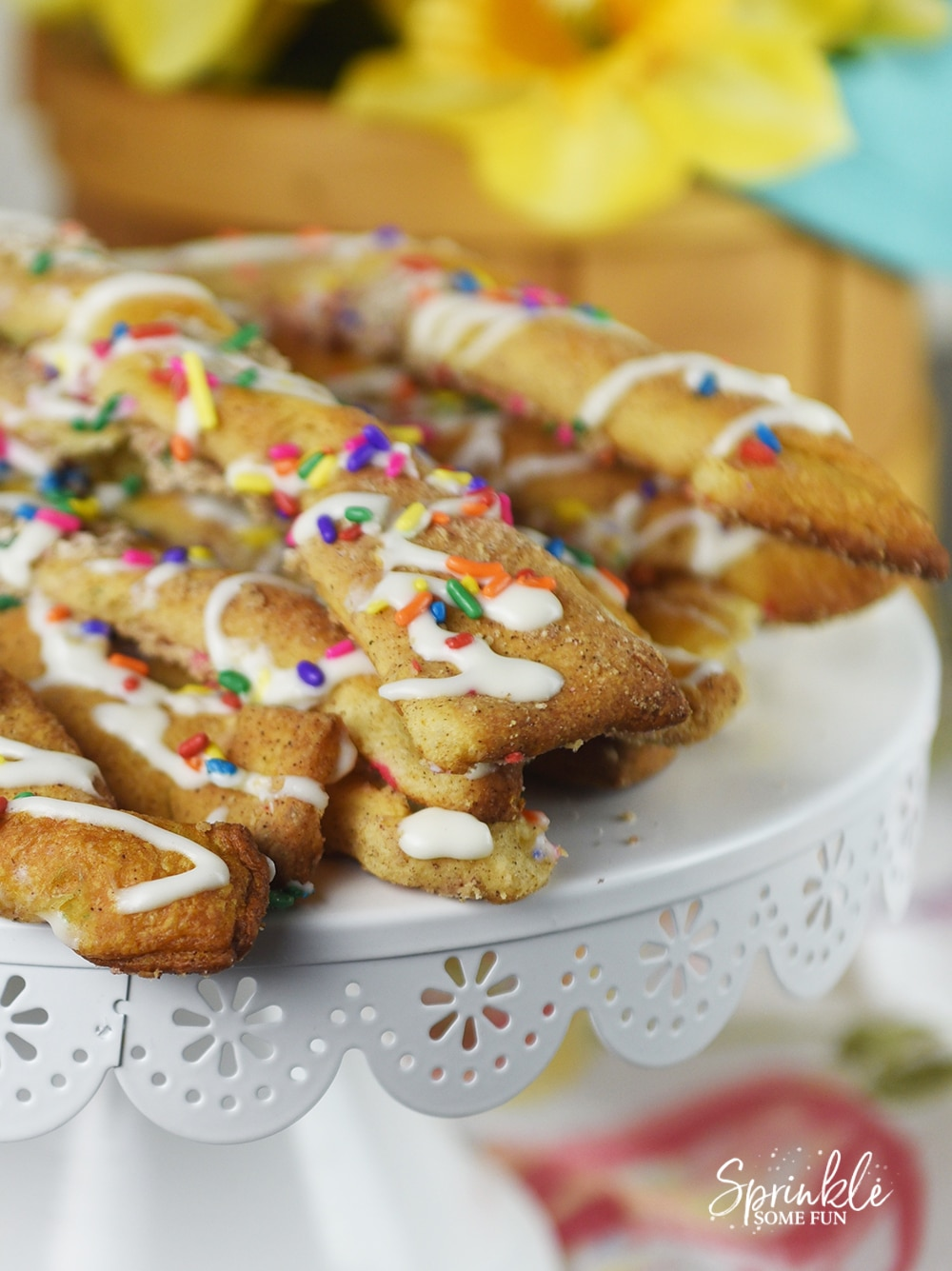 Cake Batter Cinnamon Twists