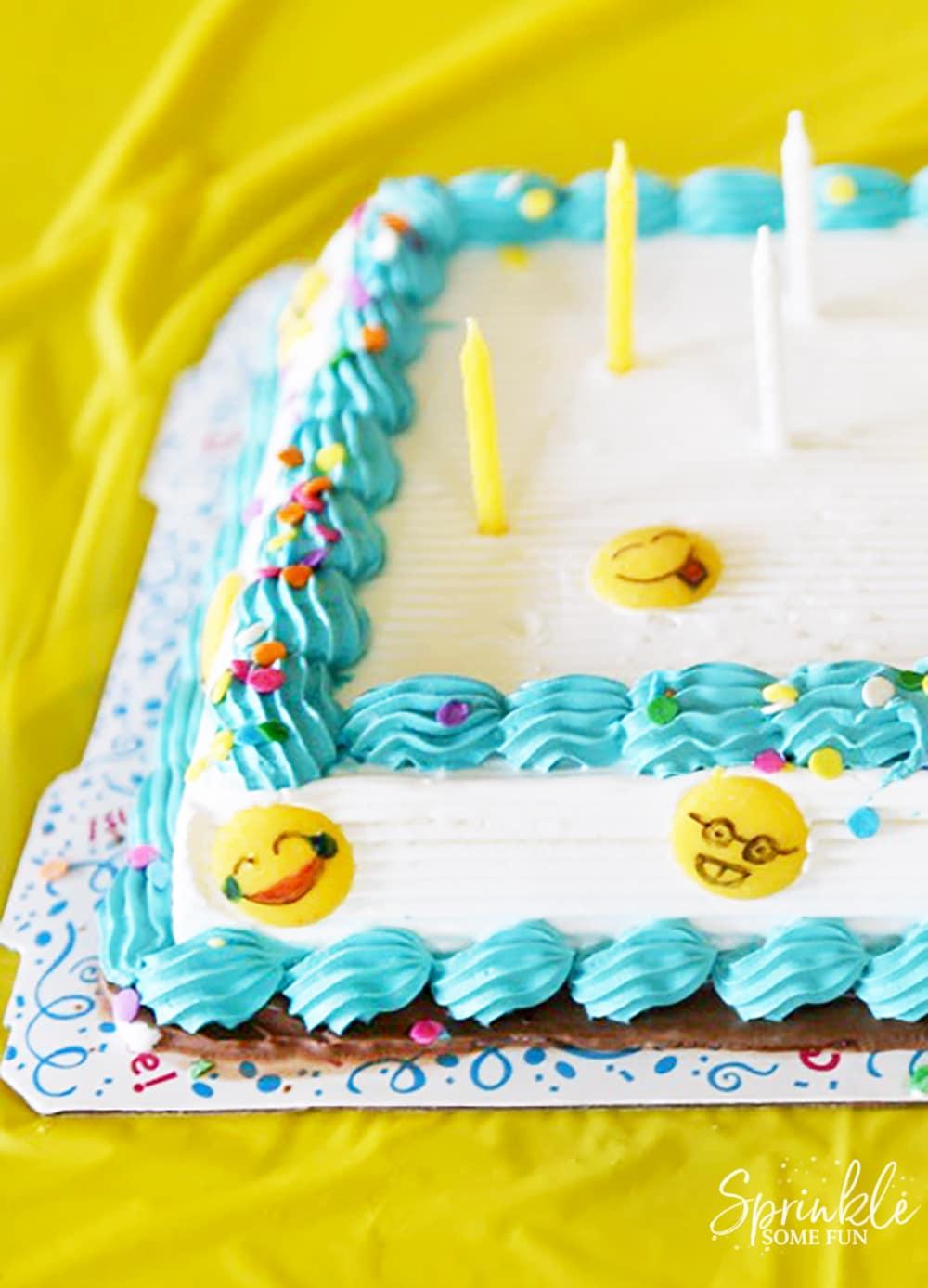 Easy Emoji Themed Ice Cream Cake