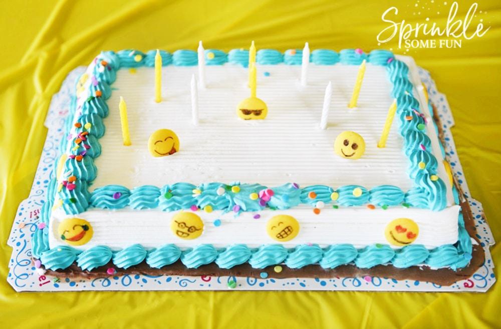 Cake Ice Cream Emoji : Easy Emoji Themed Ice Cream Cake - Sprinkle Some Fun