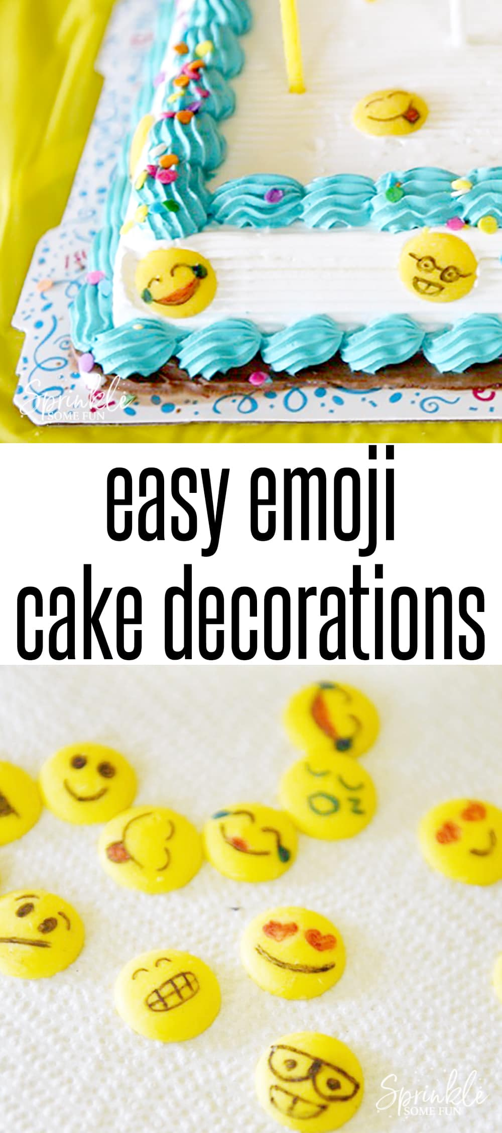 This Easy Emoji Themed Ice Cream Cake was the hit of the party and such an easy idea!  From family celebrations and cookouts to gifts and just everyday deliciousness, there's always a great reason to make people smile with an ice cream cake.