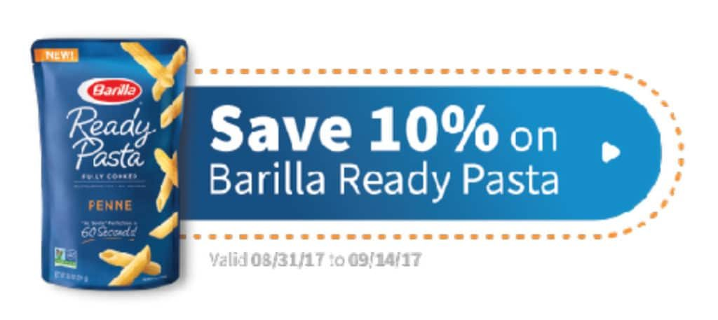Cartwheel offer: 10% off Barilla Ready Pasta