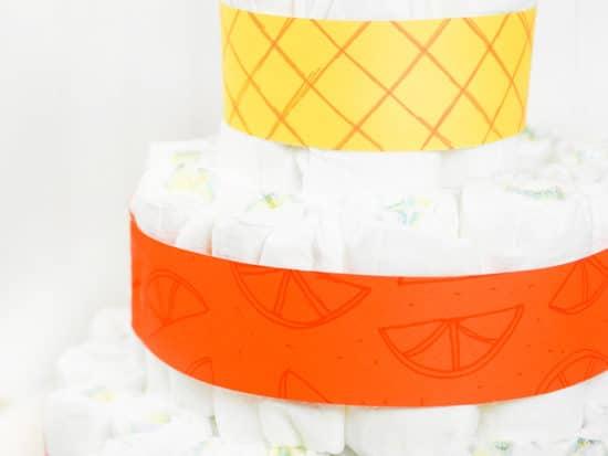 Tutti Frutti Diaper Cake