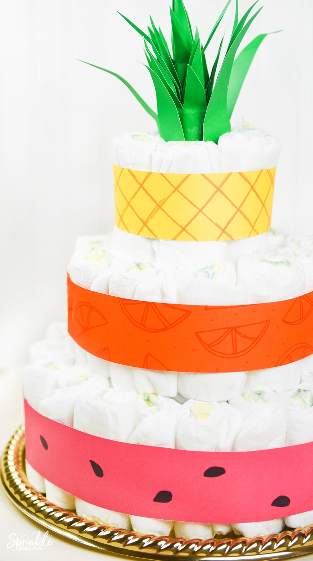 Tutti Frutti Diaper Cake Sprinkle Some Fun