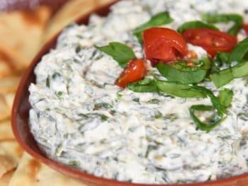 Easy Garlic & Herb Spinach Dip