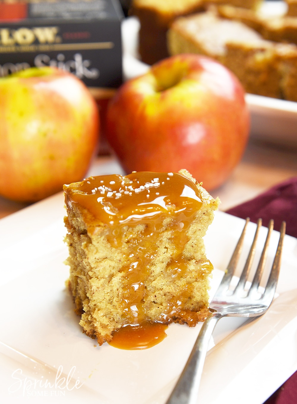 Salted Caramel Apple bread