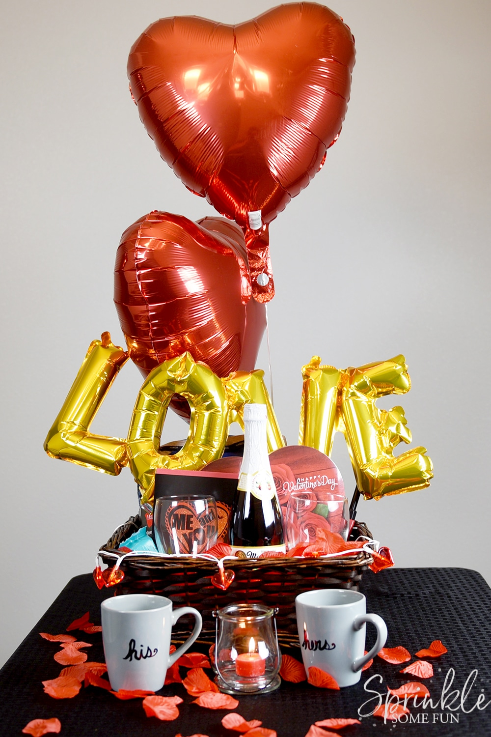 Basket ⋆ Gift Romantic Some Valentine Sprinkle Fun Ideas mNw80Ovn
