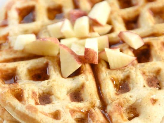Apple Waffles Recipe with Sweet Cinnamon Butter