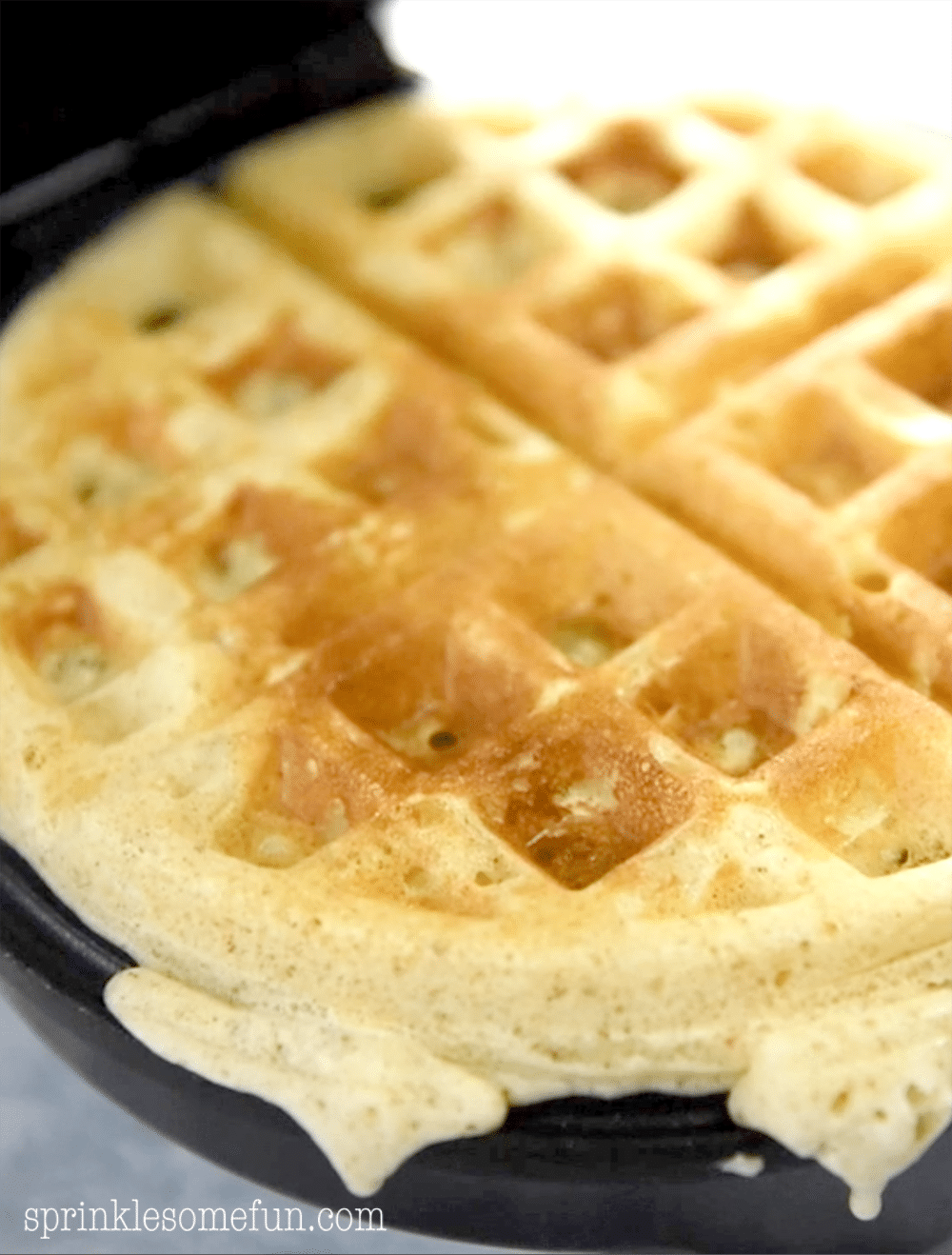 Fresh Cooked Apple Waffles