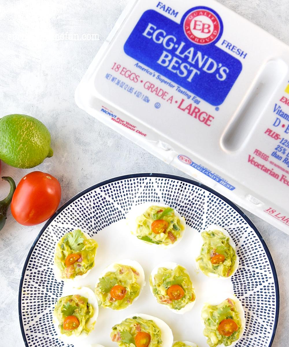 Guacamole deviled eggs a healthier appetizer