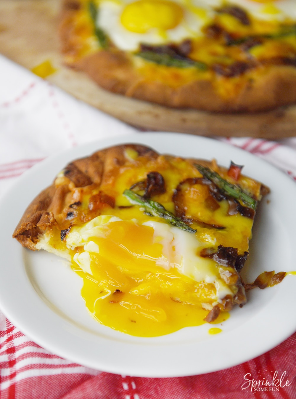 Breakfast Pizza with Hollandaise Sauce