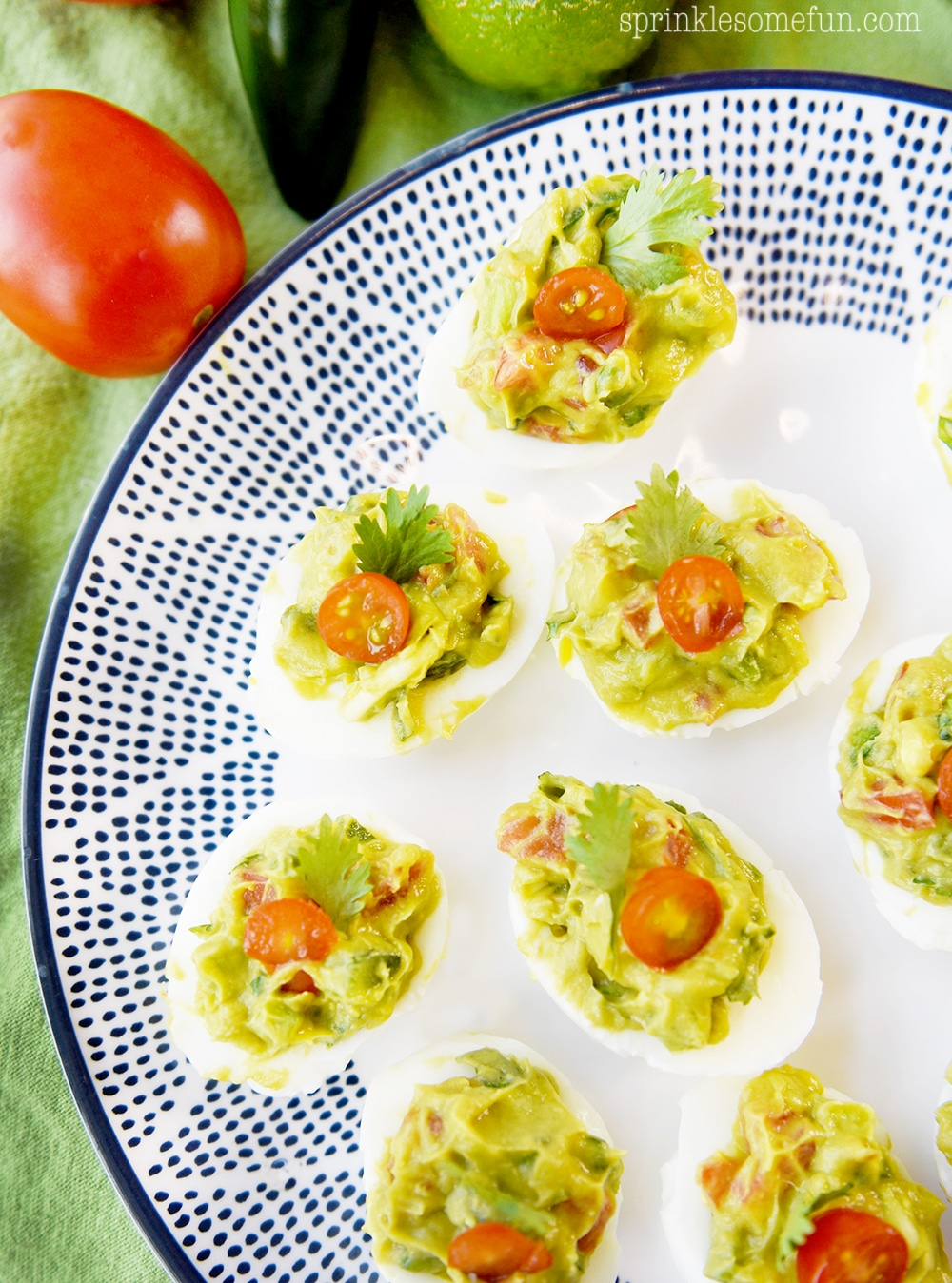 Guacamole deviled eggs are a healthy appetizer
