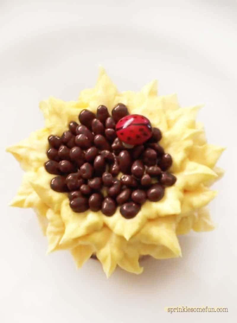 Sunflower Cupcakes Tutorial