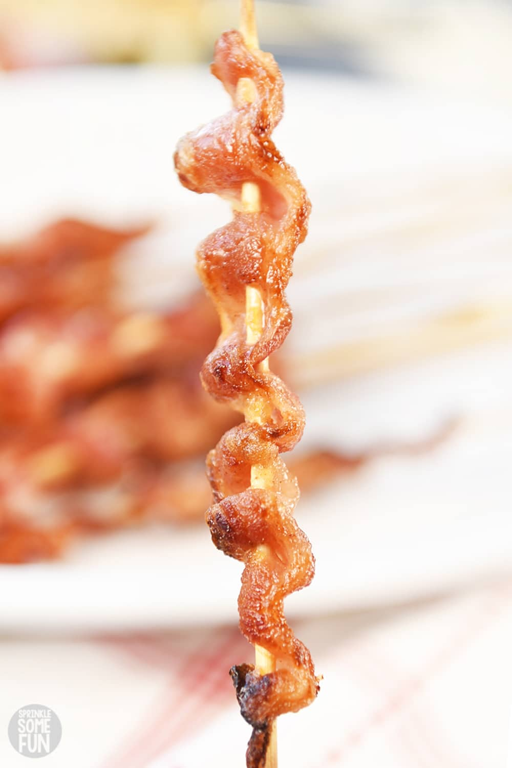 Brown Sugar Glazed Bacon Skewers